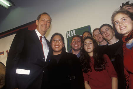 Presidential candidate Bill Bradley attends the Town Hall Meeting on Money in Politics and Campaign 2000 sponsored by Common Cause and the Committee for Economic Development at New Hampshire College in Manchester. Bradley is seeking the Democratic nominat