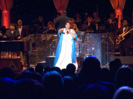 franklin: Aretha Franklin performing at the celebration for the official opening of the William J. Clinton Presidential Library November 18, 2004 in Little Rock, AK