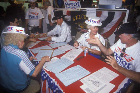 voter registration: Ross Perot for President petition drive and voter registration, CA Editorial