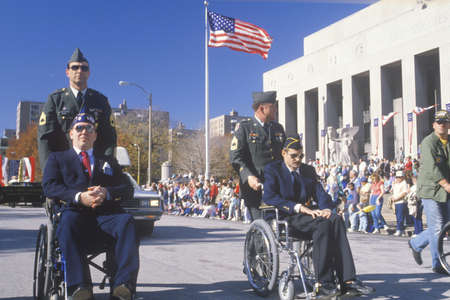 somber: Men in Wheelchairs, Veterans Day Parade, St. Louis, Missouri