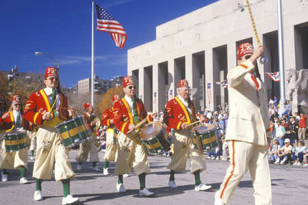 marchers: Marchers in Veterans Day Parade, St. Louis, Missouri