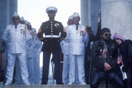photographies: Veterans at Veterans Day Ceremony, Arlington National Cemetery, Washington, D.C. Editorial