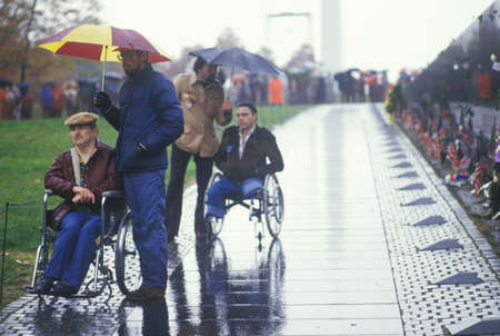 wounded: Veterans in Wheelchairs, Vietnam Memorial, Washington, D.C.