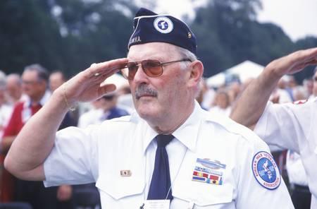 Veteraan van de Koreaanse Oorlog Salueren, Washington, DC