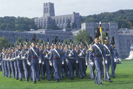 Cadets Marching in Formation, West Point Military Academy, West Point, New York