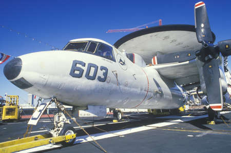 AWAC Jet Aboard the USS Forrestal Aircraft Carrier, New Orleans, Louisiana