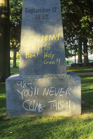 Graffiti on Statue of Tecumseh, United States Naval Academy, Annapolis, Maryland