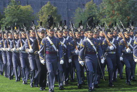 marchers: Cadets Marching in Formation, West Point Military Academy, West Point, New York