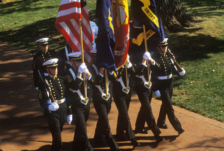 Guardiamarinas color Guardia, Estados Unidos Academia Naval de Annapolis, Maryland