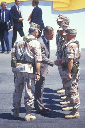 President George Bush Shaking Soldiers Hands, Washington, D.C.