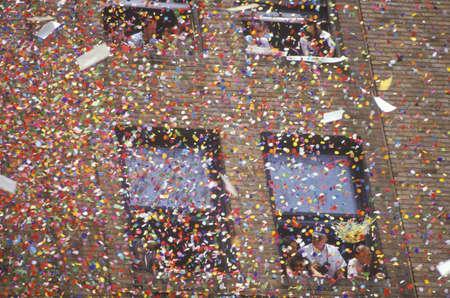 ticker: Confetti Falling From Building, Ticker Tape Parade, New York City, New York