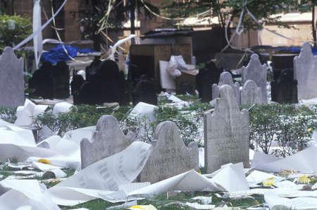 ticker: Trinity Churchyard After Ticker Tape Parade, New York City, New York