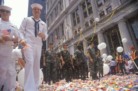 ticker: Soldiers and Sailors, Ticker Tape Parade, New York City, New York