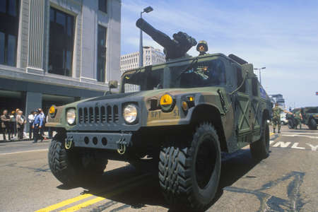 Armed Jeep, United States Army Parade, Chicago, Illinois Editorial