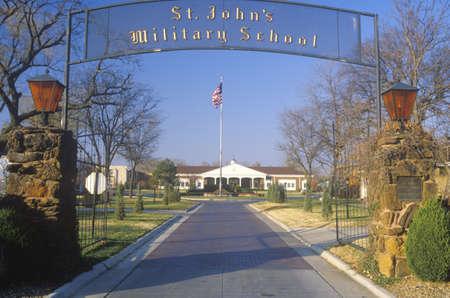 salina: Entrance to St. Johns Military School, Salina, Kansas