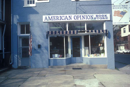 conservative: Exterior of conservative American Opinion Book Store, Richmond, VA