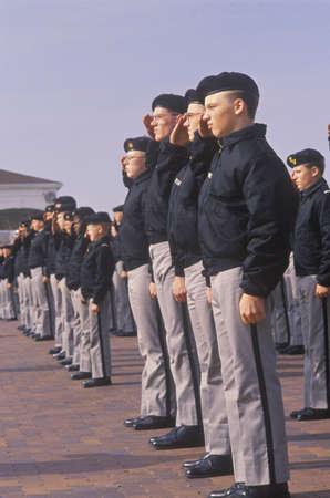 salina: Young Cadets Saluting, St. Johns Military School, Salina, Kansas