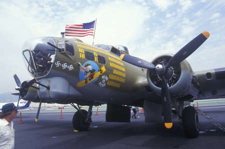 burbank: World War II Bomber Plane, Burbank, California Editorial