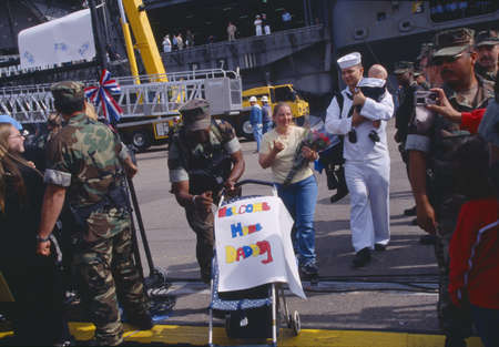 homecoming: American Sailors Returning Home From Sea