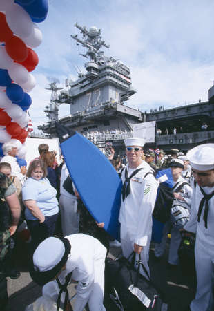 homecoming: American Sailors Returning Home From Sea, San Diego, California