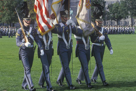 Homecoming Parade Honor Guard, West Point Military Academy, West Point, New York