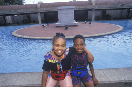 nonviolent: Two African-American Children at the Martin Luther King Center, Atlanta, Georgia