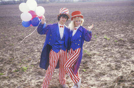 sam: Teenagers Dressed As Uncle Sam, United States
