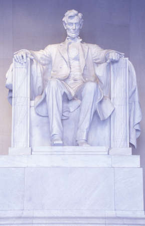 The Lincoln Memorial sculpture, Washington, DC