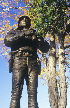 patton: Statue of George Patton, US Military Academy, West Point, NY in Autumn Editorial