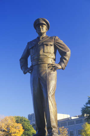 eisenhower: Statue of General Dwight D. Eisenhower, US Military Academy, West Point, New York in Autumn