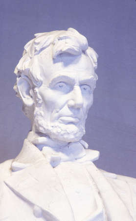 Close up of the Lincoln Memorial sculpture, Washington, DC