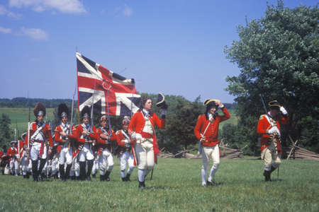 revolutionary war: Revolutionary War Reenactment, Freehold, New Jersey, 218th Anniversary of Battle of Monmouth,1778