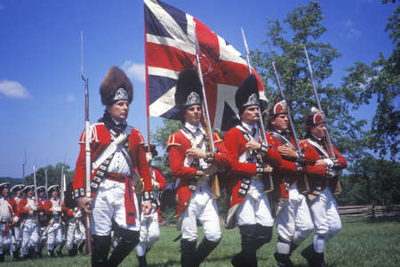 Revolutionary War Reenactment, Freehold, New Jersey, 218th Anniversary of Battle of Monmouth,1780 Editorial