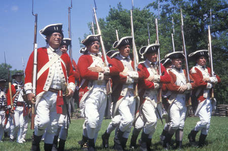 revolutionary war: Revolutionary War Reenactment, Freehold, New Jersey, 218th Anniversary of Battle of Monmouth,1782
