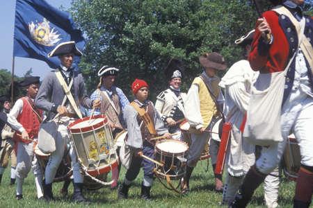 revolutionary war: Revolutionary War Reenactment, Freehold, NJ, 218th Anniversary of Battle of Monmouth,1778