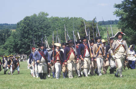 Revolutionary War Reenactment, Freehold, NJ, 218th Anniversary of Battle of Monmouth, Monmouth Battlefield state park