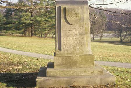 revolutionary war: Marker at Revolutionary War National Park, Valley Forge, PA Editorial