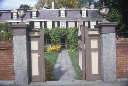 adams: John Adams National Historic site, home of John Adams, Braintree, Massachusetts Editorial