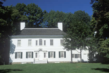 Exterior of George Washington's headquarters from 1779 to 1780, Morristown, NJ Reklamní fotografie - 20713271