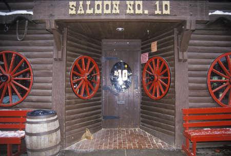 Entrée à la salle à Deadwood Banque d'images - 20711373