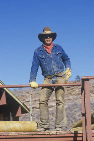 loveland: Portrait of a cowboy, Loveland, CO Editorial