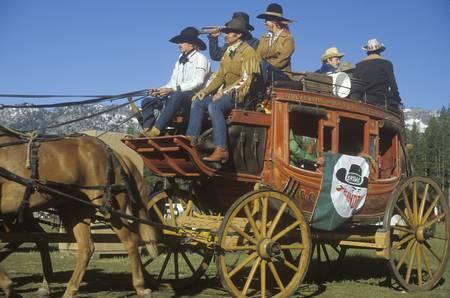 Living History participants in wagon train near Sacramento, CA
