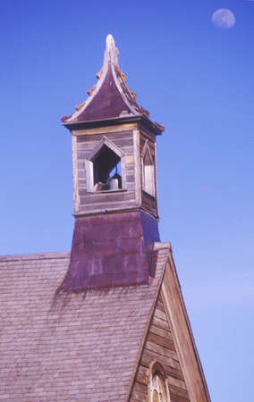 bodie: Church steeple in Bodie, California, Ghost town