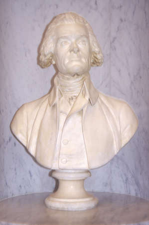 Profile bust of Thomas Jefferson in Library of Congress Washington D.C.