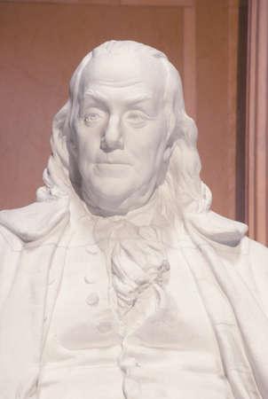 ben franklin: Ben Franklin statue in Franklin Museum in Philadelphia Pennsylvania