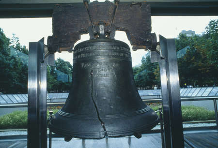 liberty bell: Close-up of the Liberty Bell