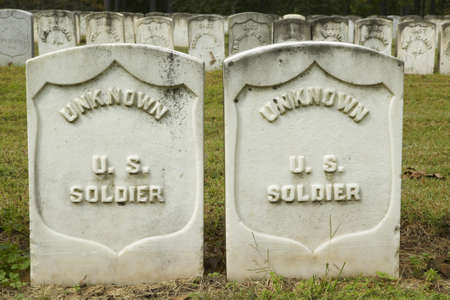 Tombs of the Unknown Soldiers, National Park Andersonville or Camp Sumter, Civil War prison and cemetery  Editorial