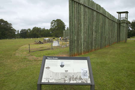 Visitor map of National Park Andersonville or Camp Sumter, site of Confederate Civil War prison and cemetery for Yankee Union prisoners