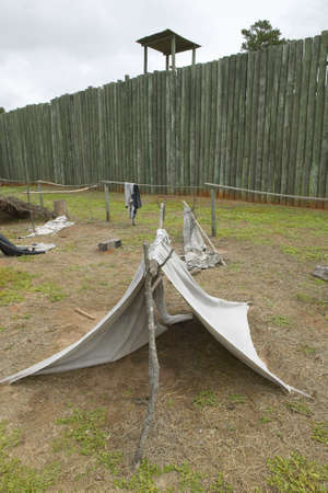 Exhibit at National Park Andersonville or Camp Sumter, Site of Confederate Civil War prison and cemetery for Yankee Union prisoners