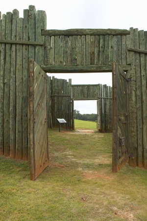 National Park Andersonville or Camp Sumter, a National Historic Site in Georgia, site of Confederate Civil War prison and cemetery tombstones for Yankee Union prisoners Editorial